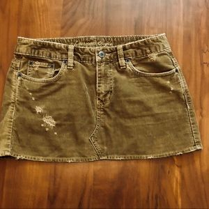 American Eagle Golden Brown Corduroy Skirt